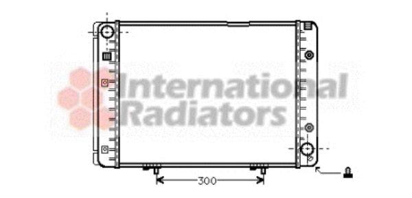 Radiateur, refroidissement du moteur - VAN WEZEL - 30002100