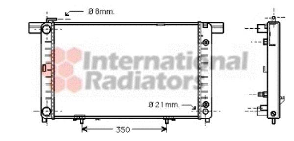 Radiateur, refroidissement du moteur - VAN WEZEL - 30002120