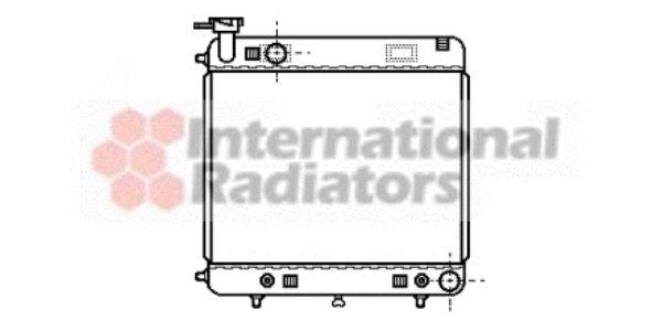 Radiateur, refroidissement du moteur - VAN WEZEL - 30002122