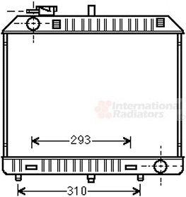 Radiateur, refroidissement du moteur - VAN WEZEL - 30002127