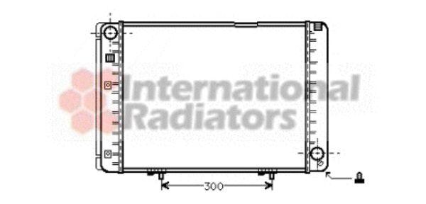 Radiateur, refroidissement du moteur - VAN WEZEL - 30002128
