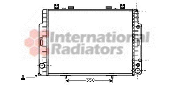 Radiateur, refroidissement du moteur - VAN WEZEL - 30002129