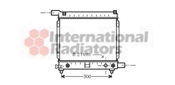 Radiateur, refroidissement du moteur - VAN WEZEL - 30002137