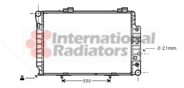 Radiateur, refroidissement du moteur - VAN WEZEL - 30002147