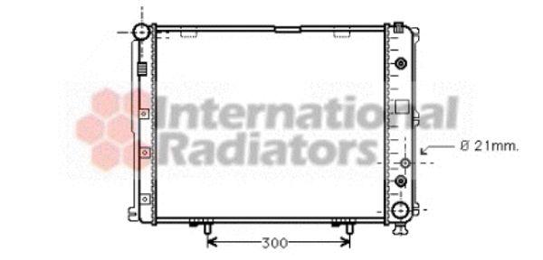 Radiateur, refroidissement du moteur - VAN WEZEL - 30002148