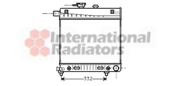 Radiateur, refroidissement du moteur - VAN WEZEL - 30002150