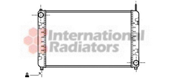 Radiateur, refroidissement du moteur - VAN WEZEL - 30002153