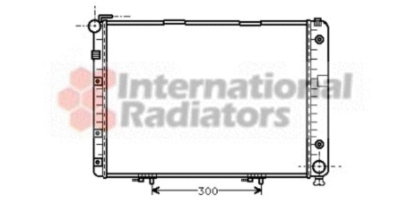 Radiateur, refroidissement du moteur - VAN WEZEL - 30002154