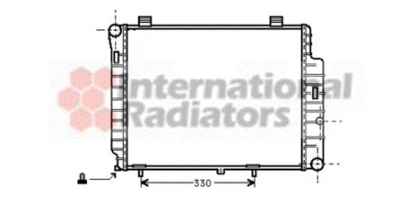Radiateur, refroidissement du moteur - VAN WEZEL - 30002155