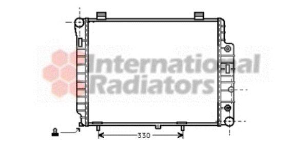 Radiateur, refroidissement du moteur - VAN WEZEL - 30002156