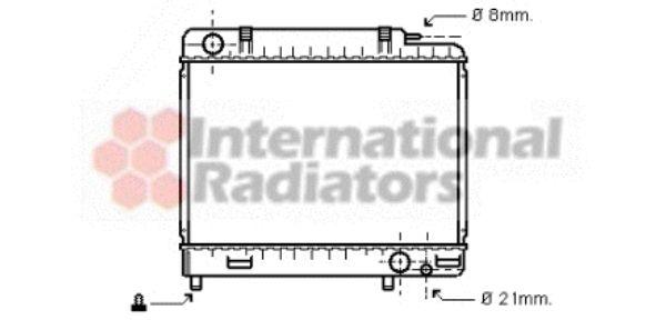 Radiateur, refroidissement du moteur - VAN WEZEL - 30002163