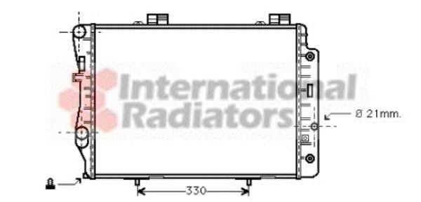Radiateur, refroidissement du moteur - VAN WEZEL - 30002173