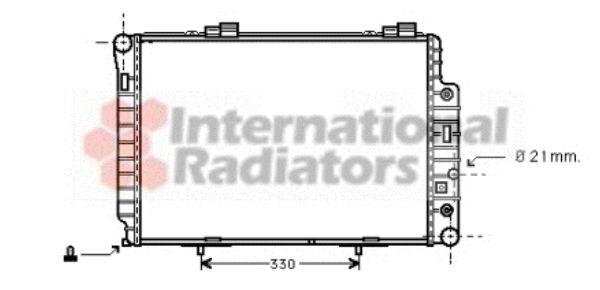 Radiateur, refroidissement du moteur - VAN WEZEL - 30002174