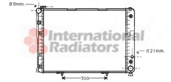 Radiateur, refroidissement du moteur - VAN WEZEL - 30002177