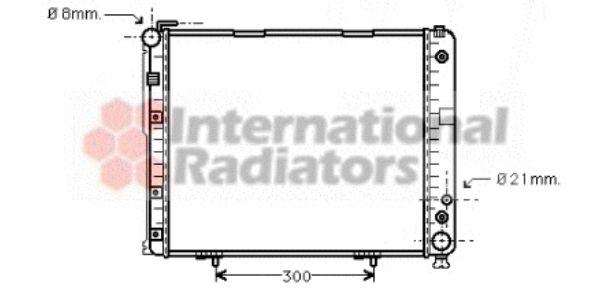 Radiateur, refroidissement du moteur - VAN WEZEL - 30002178
