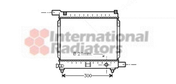Radiateur, refroidissement du moteur - VAN WEZEL - 30002179