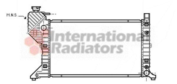 Radiateur, refroidissement du moteur - VAN WEZEL - 30002182
