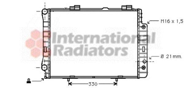 Radiateur, refroidissement du moteur - VAN WEZEL - 30002190