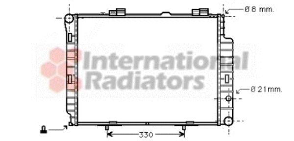 Radiateur, refroidissement du moteur - VAN WEZEL - 30002191