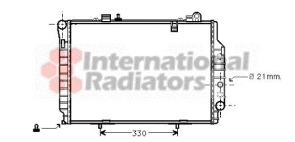 Radiateur, refroidissement du moteur - VAN WEZEL - 30002203