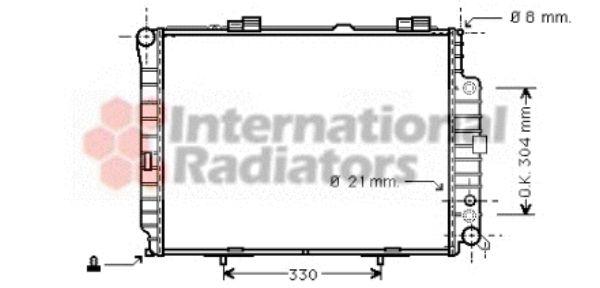 Radiateur, refroidissement du moteur - VAN WEZEL - 30002208