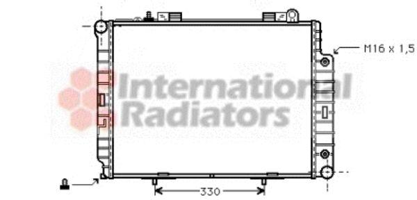 Radiateur, refroidissement du moteur - VAN WEZEL - 30002209