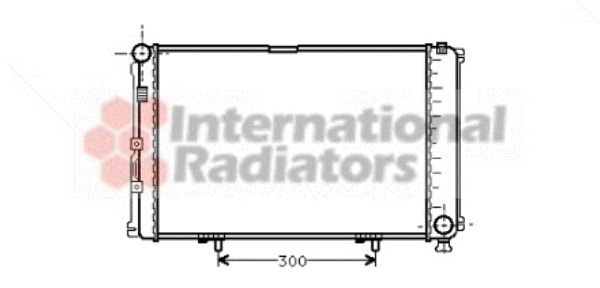 Radiateur, refroidissement du moteur - VAN WEZEL - 30002211
