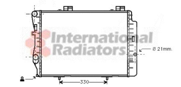 Radiateur, refroidissement du moteur - VAN WEZEL - 30002212