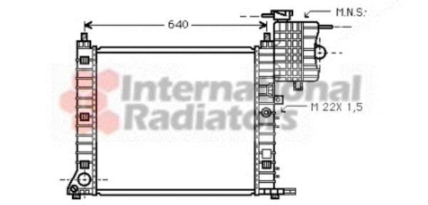 Radiateur, refroidissement du moteur - VAN WEZEL - 30002213