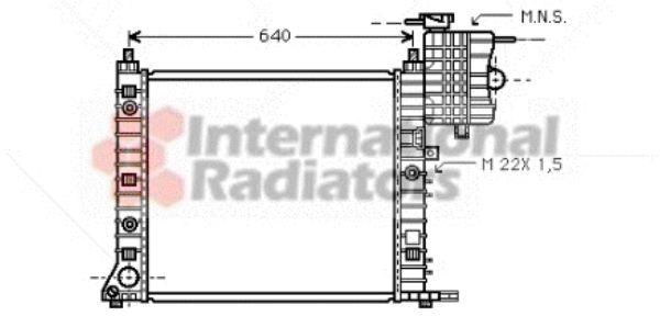 Radiateur, refroidissement du moteur - VAN WEZEL - 30002216