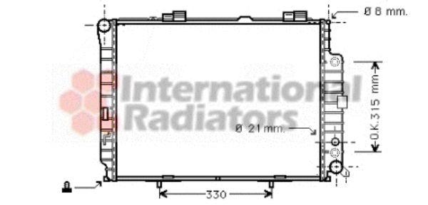 Radiateur, refroidissement du moteur - VAN WEZEL - 30002228