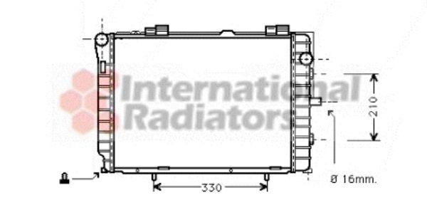 Radiateur, refroidissement du moteur - VAN WEZEL - 30002229