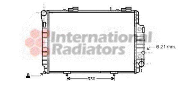 Radiateur, refroidissement du moteur - VAN WEZEL - 30002230