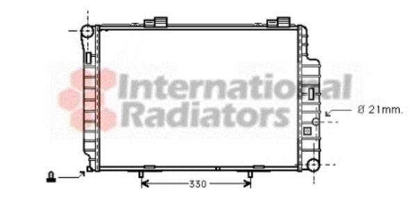 Radiateur, refroidissement du moteur - VAN WEZEL - 30002234