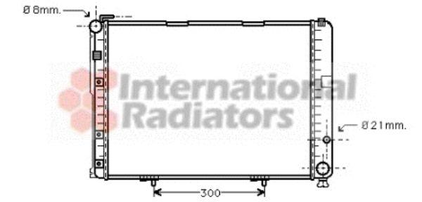 Radiateur, refroidissement du moteur - VAN WEZEL - 30002236