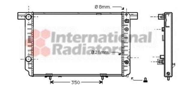 Radiateur, refroidissement du moteur - VAN WEZEL - 30002237