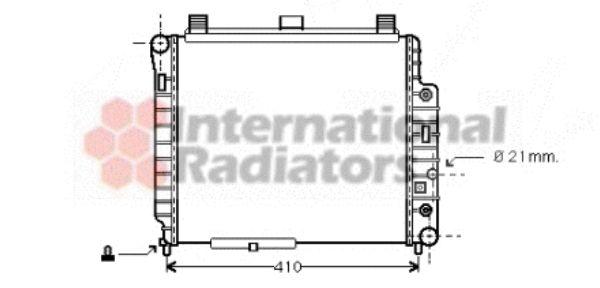 Radiateur, refroidissement du moteur - VAN WEZEL - 30002238