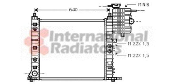 Radiateur, refroidissement du moteur - VAN WEZEL - 30002243