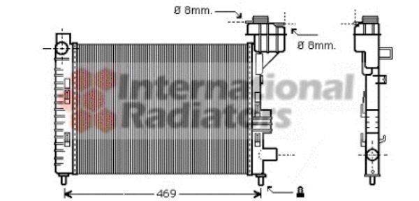 Radiateur, refroidissement du moteur - VAN WEZEL - 30002247