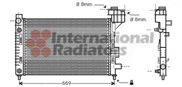 Radiateur, refroidissement du moteur - VAN WEZEL - 30002248