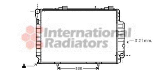 Radiateur, refroidissement du moteur - VAN WEZEL - 30002263
