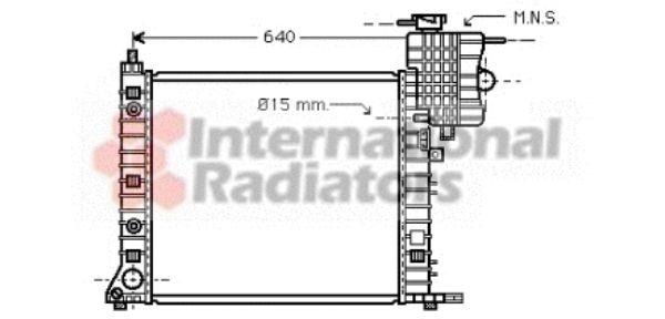 Radiateur, refroidissement du moteur - VAN WEZEL - 30002265