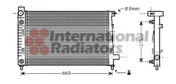 Radiateur, refroidissement du moteur - VAN WEZEL - 30002282