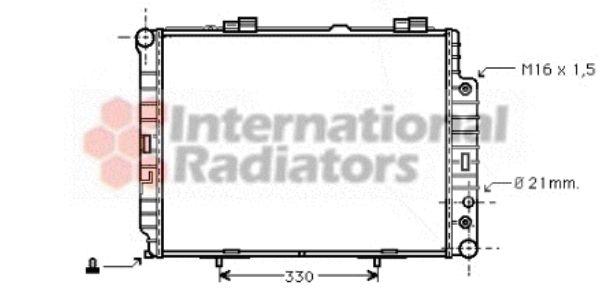 Radiateur, refroidissement du moteur - VAN WEZEL - 30002283