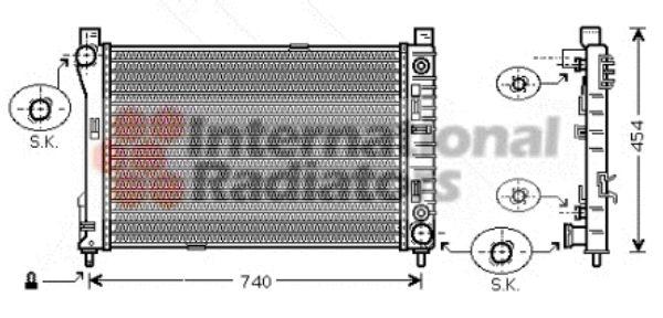 Radiateur, refroidissement du moteur - VAN WEZEL - 30002286