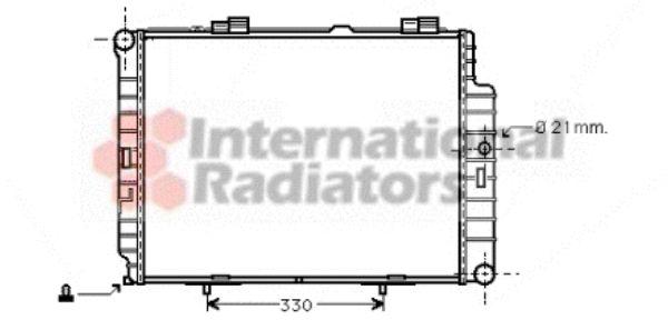 Radiateur, refroidissement du moteur - VAN WEZEL - 30002287