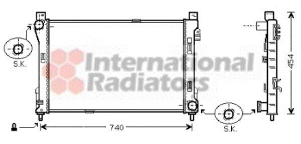 Radiateur, refroidissement du moteur - VWA - 88VWA30002288