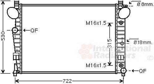 Radiateur, refroidissement du moteur - VAN WEZEL - 30002301