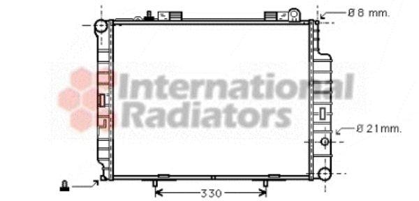 Radiateur, refroidissement du moteur - VAN WEZEL - 30002302