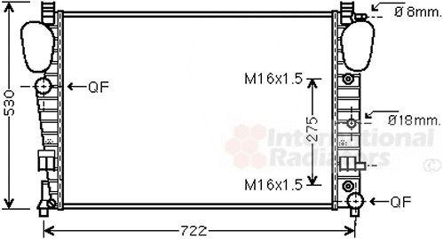 Radiateur, refroidissement du moteur - VAN WEZEL - 30002306